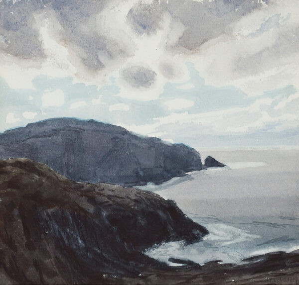 NEWBERRY John R.W.S. (b.1934) - 'Cliffs with clouds, Baltimore', County Cork.