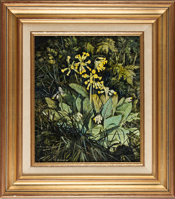 NEWCOMBE Peter (b.1943) - Northamptonshire 'Cowslips'.