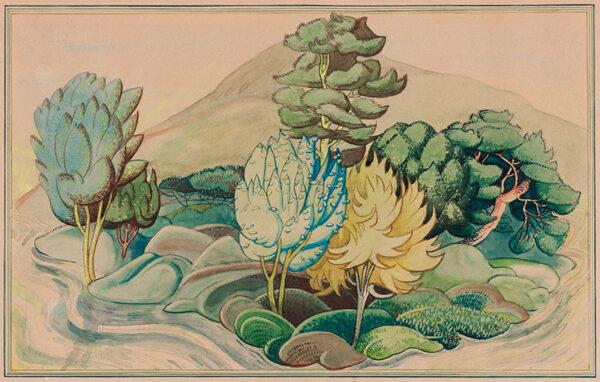 NEWTON Dorothea Warren (c.1910-c.1980) - 'The Island of the Head and the Heart'.