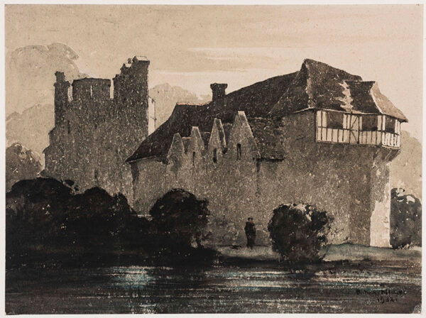 NICHOLLS Bertram P.R.B.A. R.O.I. (1883-1974) - 'Stokesay Castle'.