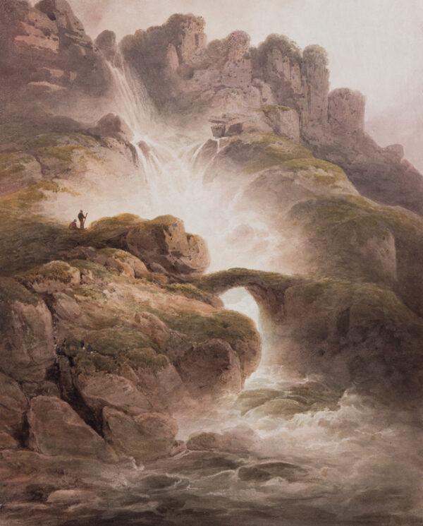 NICHOLSON Francis O.W.S. (1753-1844) - A waterfall.