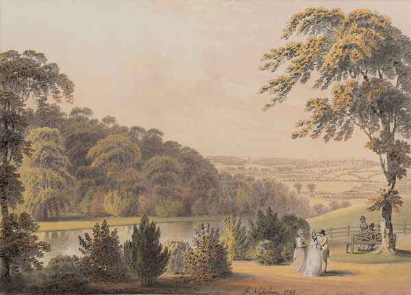 NICHOLSON Francis O.W.S. (1753-1844) - The grounds of Wiganthorpe Hall, Yorkshire.