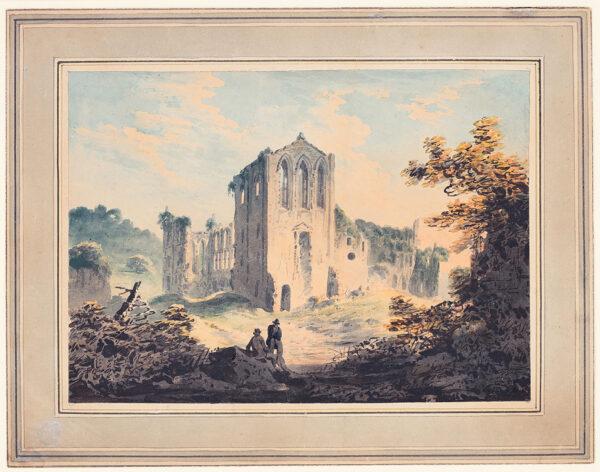 NICHOLSON Francis O.W.S. (1753-1844) - 'Rivaulx Abbey, near Helmsley, Yorkshire'.