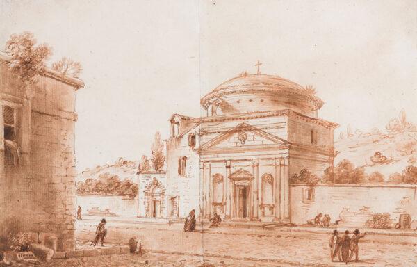 NICOLLE Victor Jean (1764-1826) - An Italian church.