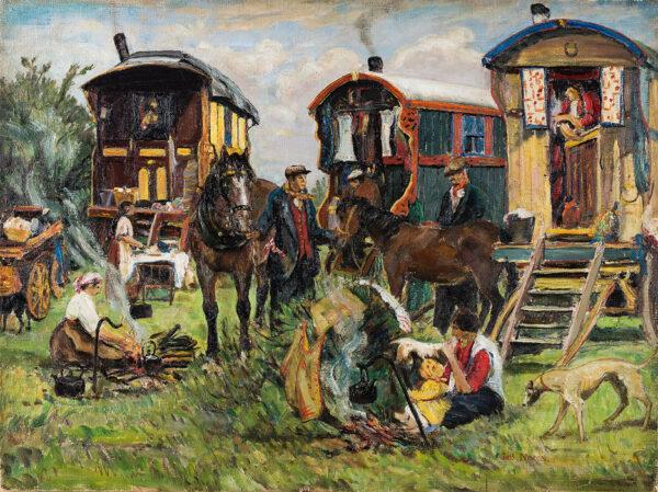 NIXON Job (1891-1938) - 'Gypsy Encampment'.