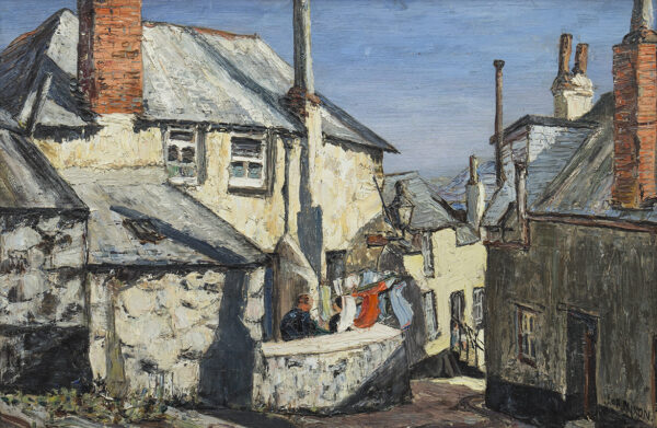 NIXON Job (1891-1938) - 'Old Houses, St Ives'.