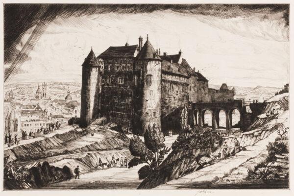 NIXON Job A.R.E. (1891-1938) - 'The Castle, Dieppe'.