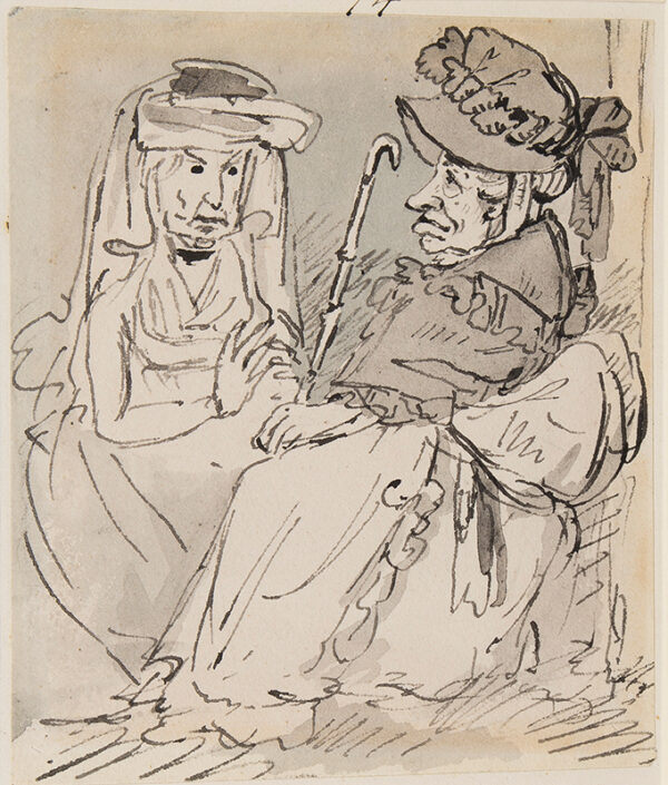 NIXON John (c.1755-1818) - Ladies in conversation.