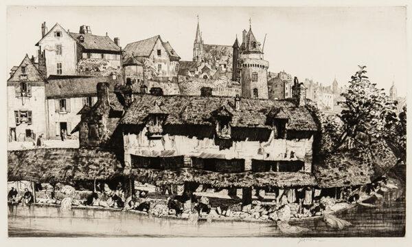 NIXON Job (1891-1938) - 'Les Lavoirs, Vannes'.