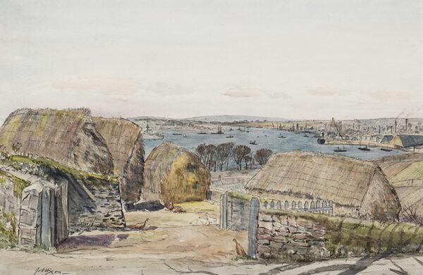 NIXON Job (1891-1938) - 'Home Farm – near Plymouth'.