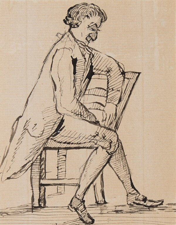 NIXON John (c.1755-1818) - Seated man.