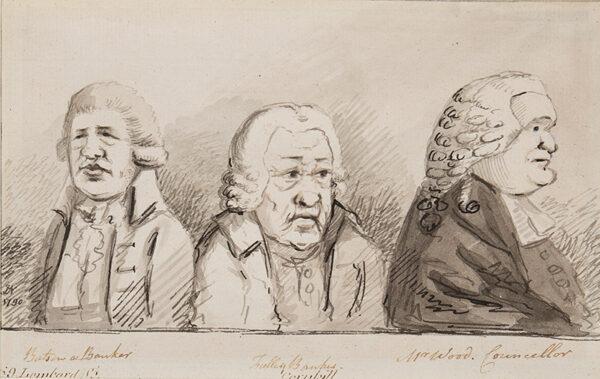 NIXON John (c.1755-1818) - 'Batson a Banker, Tulley Banker, Mr Wood.
