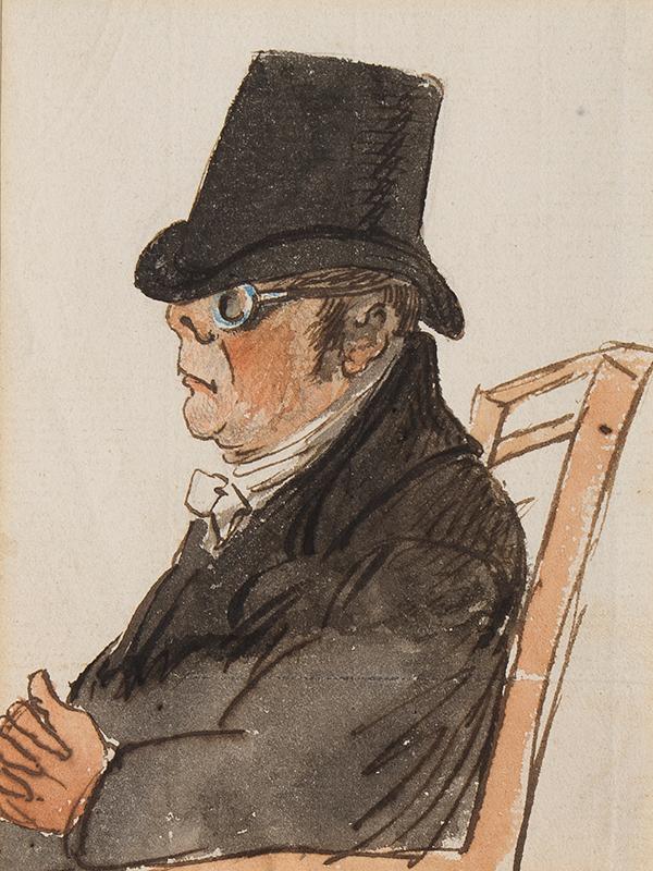 NIXON John (c.1755-1818) - Bespectacled man.