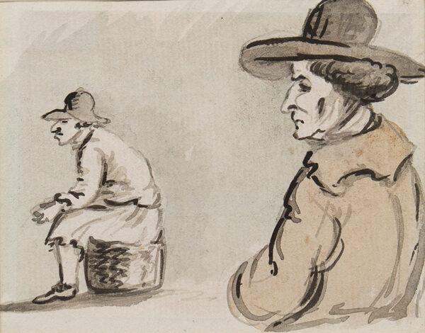 NIXON John (c.1755-1818) - Studies of two men.