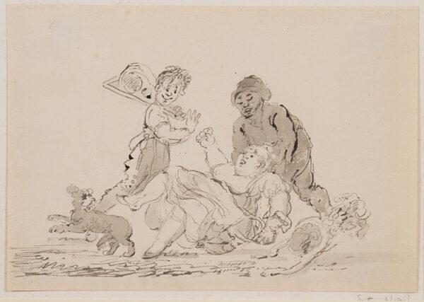 NIXON John (c.1755-1818) - A Street Accident.