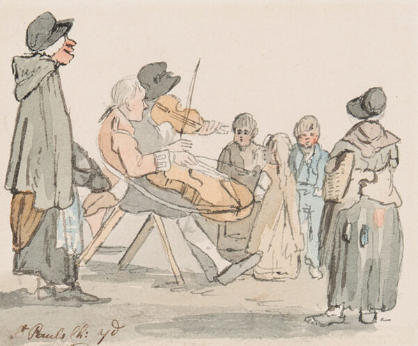 NIXON John (c.1755-1818) - Street musicians: 'St Paul's Ch.