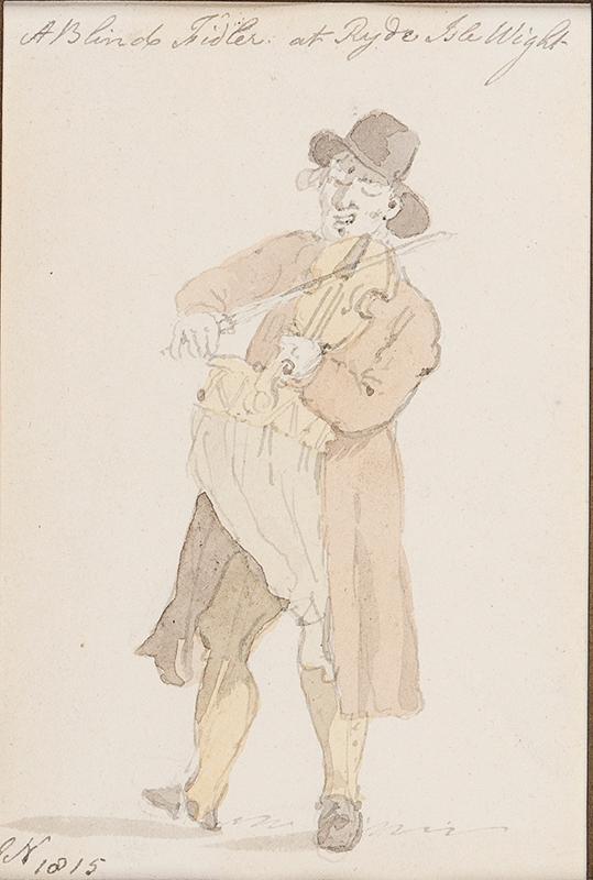 NIXON John (1755-1818) - 'A Blind Fidler at Ryde, Isle (of) Wight'.