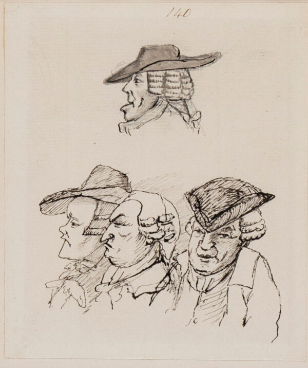 NIXON John (1750-1818) - Studies of four gentlemen.
