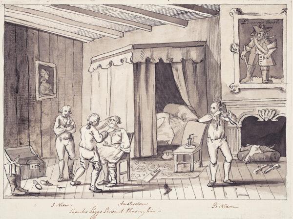 NIXON John (c.1755-1818) - 'Amsterdam / Shanks Leggs Servant Shaving him'.
