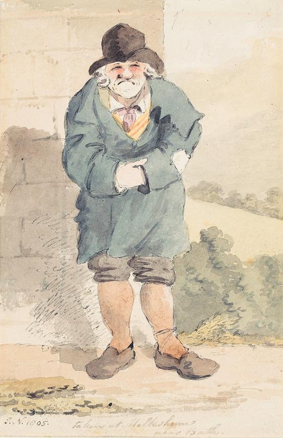 NIXON John (c.1755-1818) - 'Taken at Melksham / near Bath'.