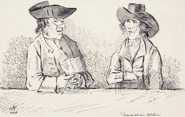 NIXON John (1755-1818) - 'Drawn at an Auction'.