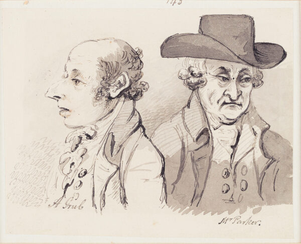 NIXON John (c.1755-1818) - 'A Grub' and 'Mr Parker'.