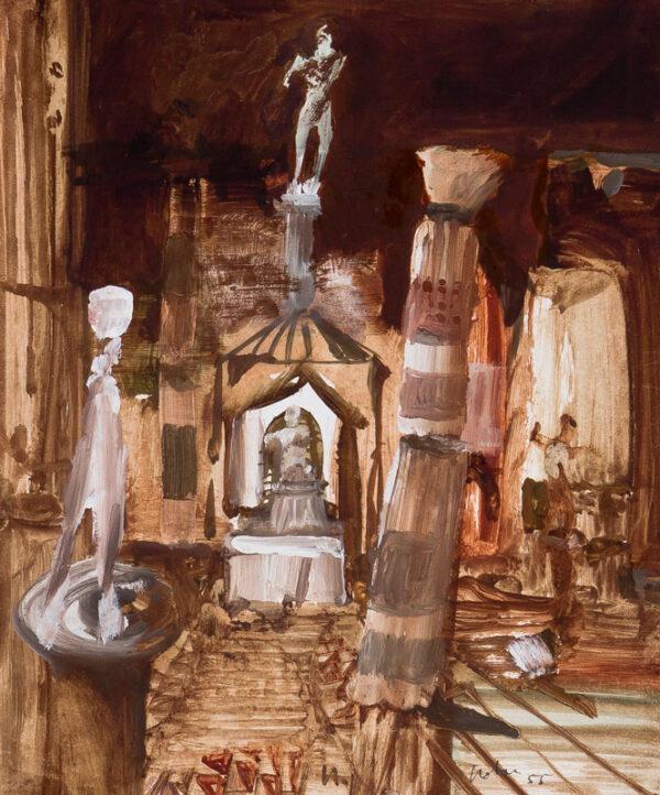 NOLAN Sir Sidney R.A. O.M. (1917-1992) - Ruins of Antiquity.