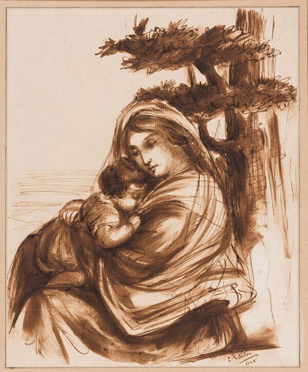 NORTON Caroline Elizabeth Sarah (nee Sheridan) (1808-1877) - Madonna and Child.