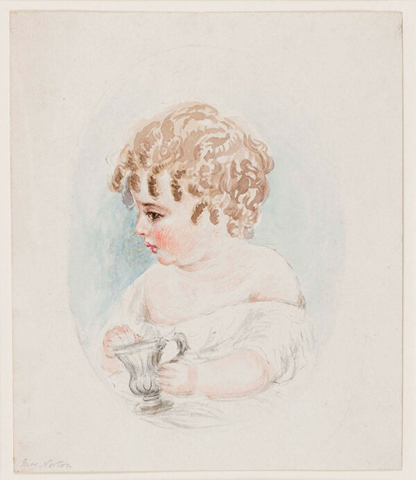 NORTON Caroline Elizabeth Sarah (nee Sheridan) (1808-1877) - Study of a child.