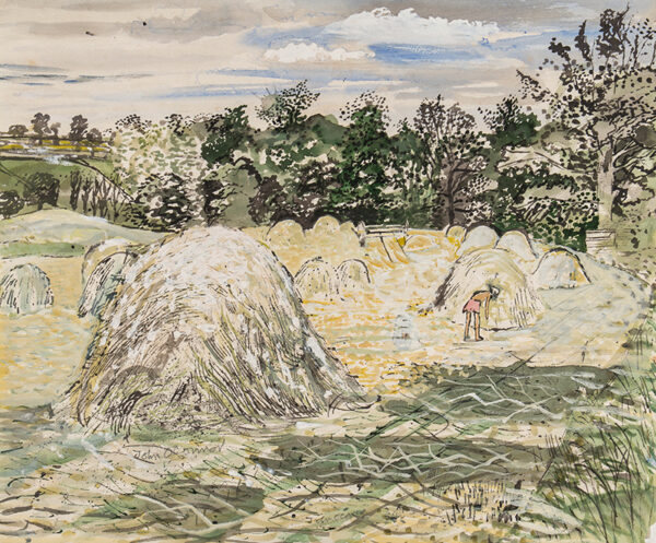 O'CONNOR John (1913-2004) - Harvest at Oliver's Farm, near Colchester.