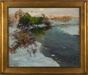 OLSSON Julius R.A. (1864-1942) - Swedish winter.