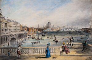 ONWHYN Thomas (1811-1886) - 'View from Waterloo Bridge'.