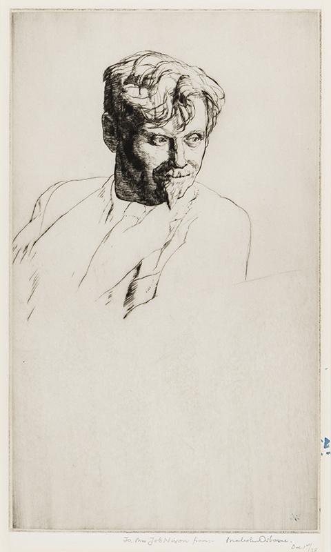 OSBORNE Malcolm A.R.A. R.E. (1880-1963) - Portrait of Job Nixon (1891-1938) Etching.