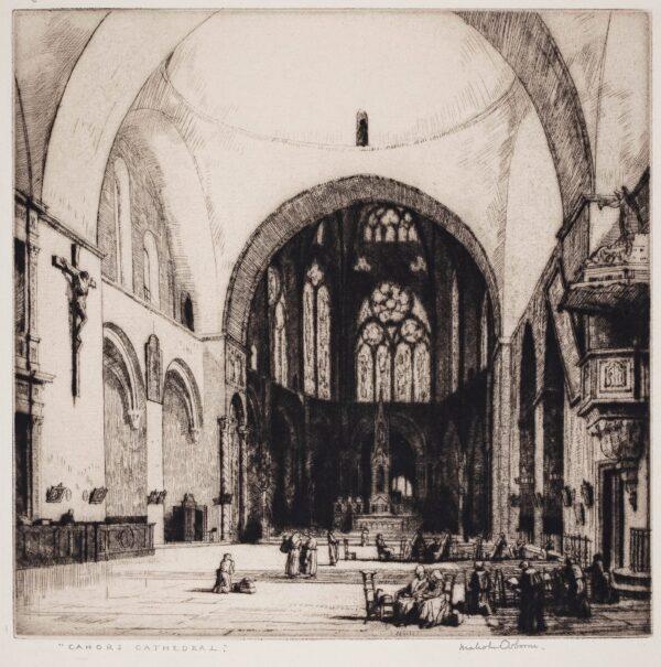 OSBORNE Malcolm R.A. P.R.E. (1880-1963) - 'Cahors Cathedral'.