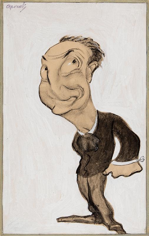 OSPOVAT Henry (1877-1909) - 'Little Tich' (Harry Relph 1867-1928) Crayon, pen, brush, ink and gouache.