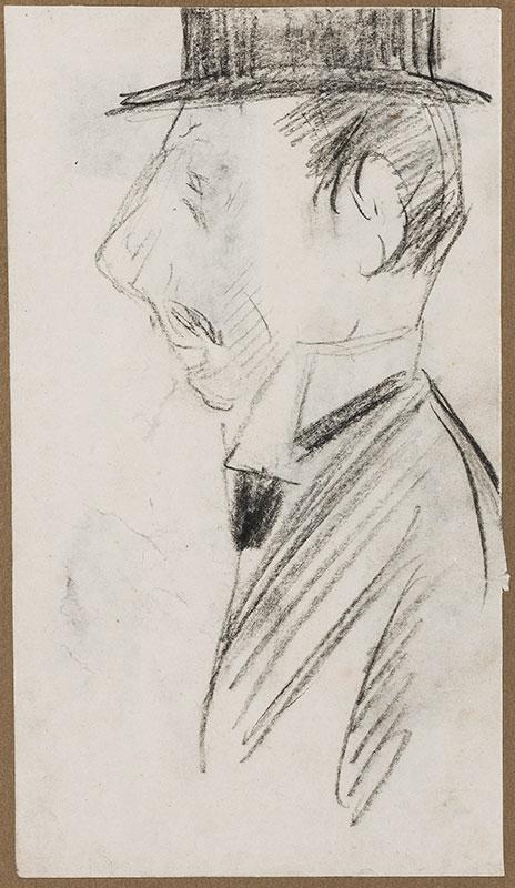 OSPOVAT Henry (1877-1909) - Study of a man in a topper.