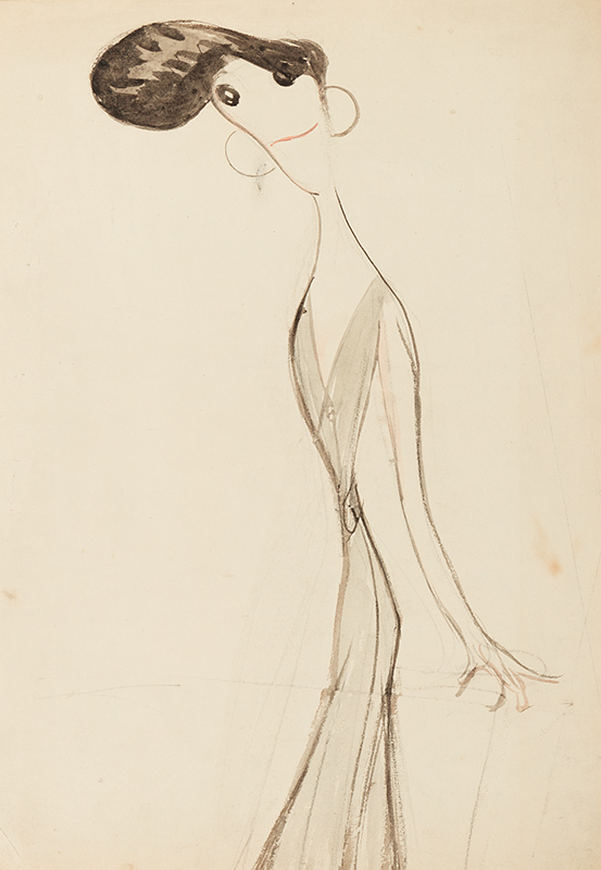 OSPOVAT Henry (1877-1909) - 'Irene Vanbrugh' (1872-1949) Study for his series 'Stars of the Music Hall Stage', circa 1908.