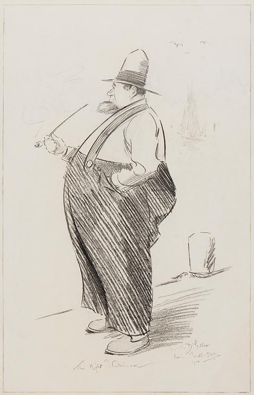 OWEN Will (1869-1957) - 'The Night Watchman'.