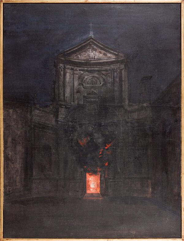 PAGLIACCI Aldo (1913-1991) - 'San Marcello in flames'.