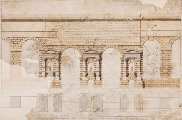 PAINE James II (1756-1801) - 'Restoration of the Porta Maggiore, Rome, as I believe it to have existed after the alterations by Titus'.