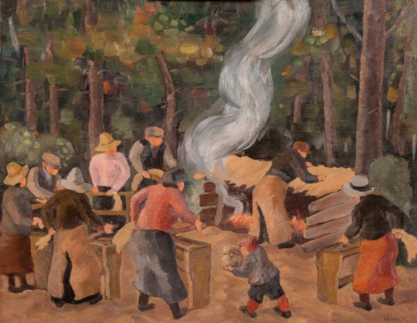 PALARDY Jean (1905-1991) - Woodlanders, Charlevoix, Quebec.