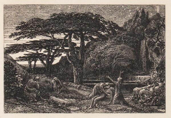 PALMER Samuel (1805-1881) - 'The Cypress Grove' Lister 15.