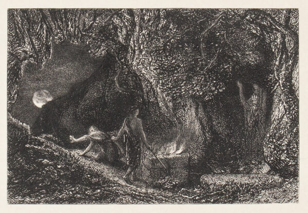 PALMER Samuel (1805-1881) and Alfred Herbert Palmer (1853-1932) - 'The Sepulchre' (L.