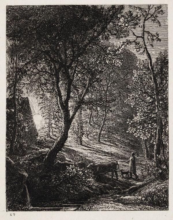 PALMER Samuel (1805-1881) - 'The Herdsman's Cottage'.