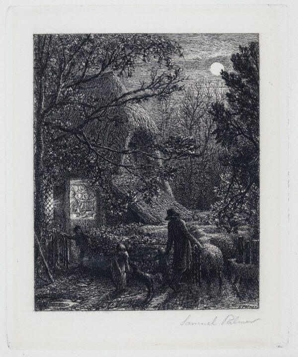 PALMER Samuel (1805-1881) - 'Christmas'Etching.