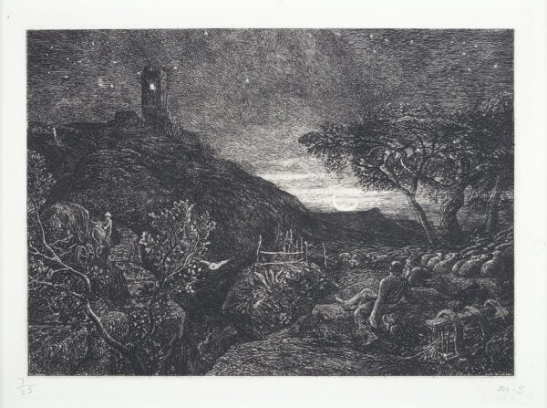 PALMER Samuel (1805-1881) - 'The Lonely Tower' (L.