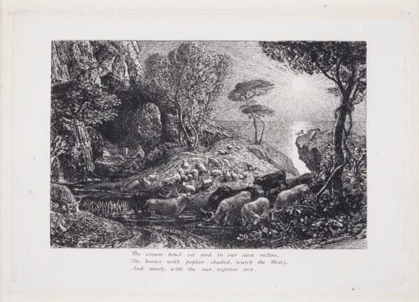 PALMER Samuel (1805-1881) and A H Palmer - 'Moeris and Galatea' (L.