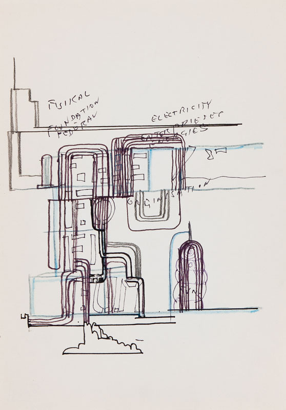 PAOLOZZI Sir Eduardo K.B.E. (1924-2005) - Study for a screenprint.