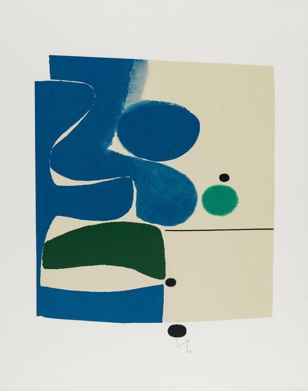 PASMORE Victor C.H. C.B.E. (1908-1998) - 'Blue Movement and Green' Screenprint.