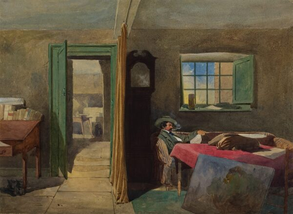PASQUIER James Abbott (1851-1872) - An artist, possibly William James Ferguson (fl.